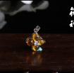 茯神琥珀 纯天然 抚顺 琥珀 金珀 925银镶嵌 吊坠 (7)