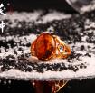 茯神琥珀 纯天然 抚顺 琥珀 金珀 镀金 镶嵌 戒指 13号 (7)