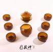 缅甸琥珀制品全套茶具 (6)